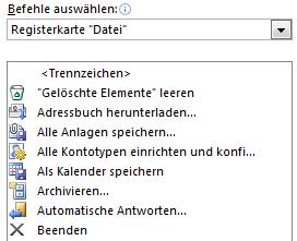 OutlookSchnellzugriff